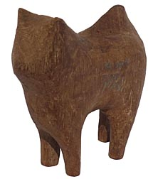 Carved husky dog