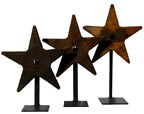 Architectural iron star tie-ins