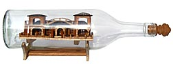 Exceptional house in a bottle whimsy