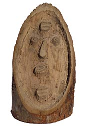 Primitive carved face