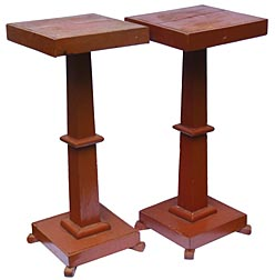 Pair of pedestal stands