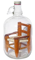 Chair in a bottle whimsy
