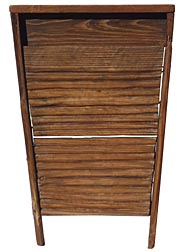 Primitive hand made wooden washboard