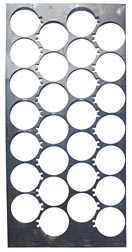Decorative industrial metal panel
