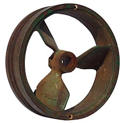 Decorative industrial pulley