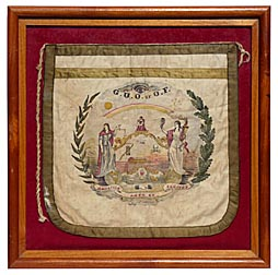 Odd Fellows ceremonial apron