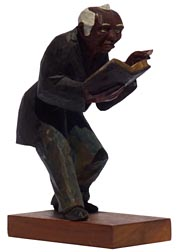 Carving of preacher