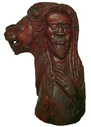 Large African-American carving