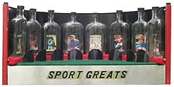 Sports card bottle whimseys
