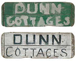 Painted cottage sign