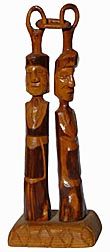 Whimsey carved man and woman