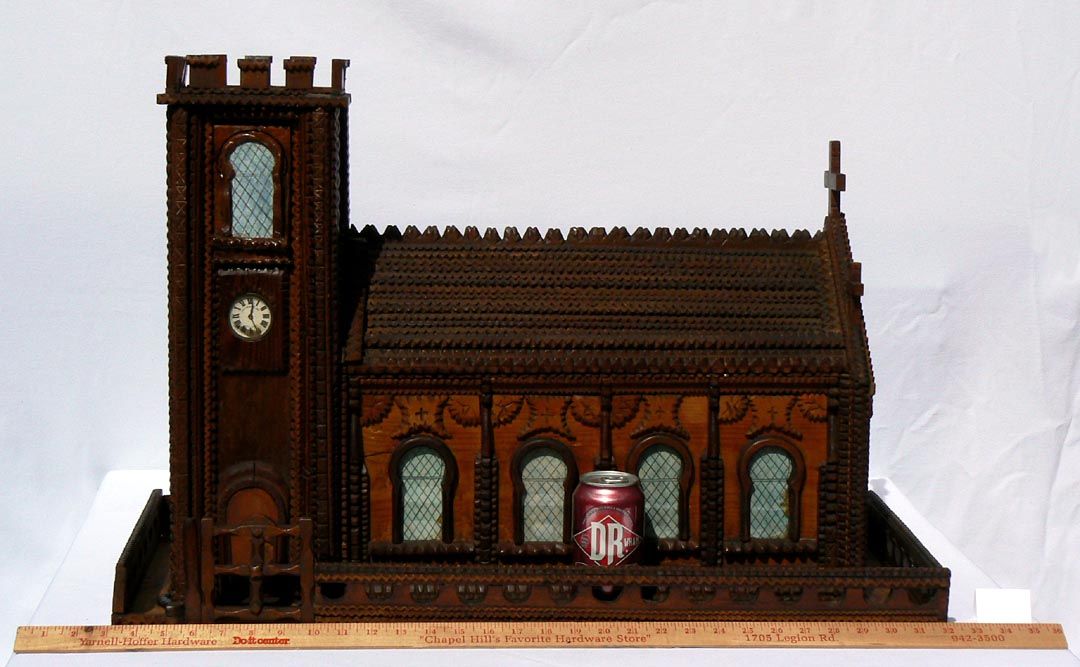 'With a yardstick and soda can for scale' from the web at 'http://www.folkartisans.com/pages/../images11/trwp_scale.jpg'