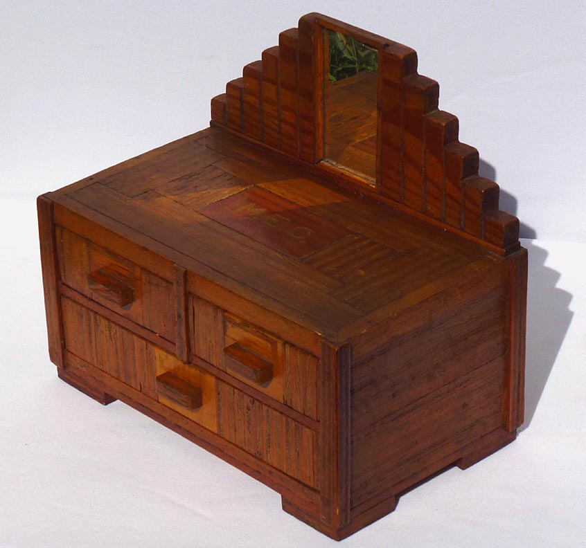 'Layered Art Deco dresser box' from the web at 'http://www.folkartisans.com/pages/../images12/catp1.jpg'