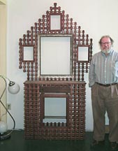 'With Matt, to show scale' from the web at 'http://www.folkartisans.com/pages/../images2/pkok_scale.jpg'