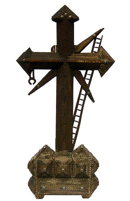 'Tramp art cross' from the web at 'http://www.folkartisans.com/pages/../images3/apak_big.jpg'